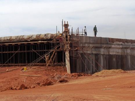 La construction du nouvel échangeur de Bamako