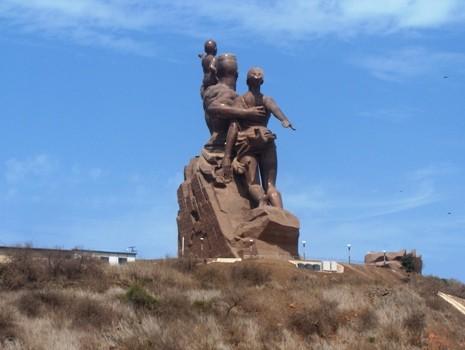 Le monument de la renaissance à Dakar, Sénégal