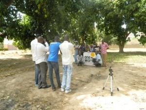 Les participants prennent des images